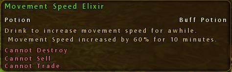 Movement Speed Elixir Description