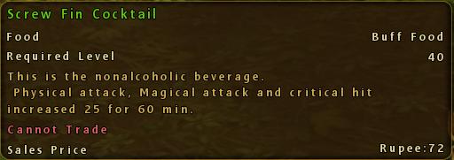 Screw Fin Cocktail Description