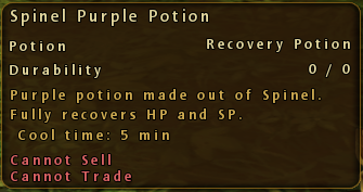 Spinel Purple Potion Description