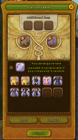 Costume Fusion Window